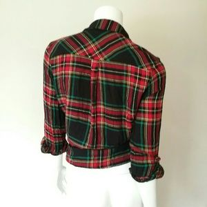 Old Navy Tops - Old Navy Black Red Plaid Flannel Button Up Shirt
